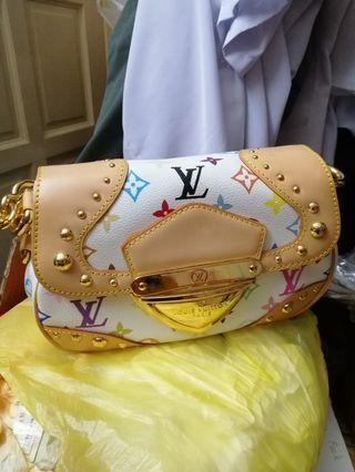 Louis Vuitton White/Multicolour monogram shoulder bag