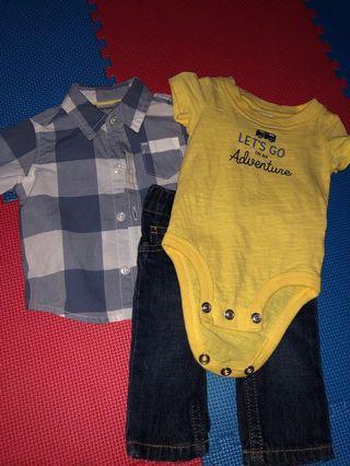 Setelan baju bayi carter's | reprice
