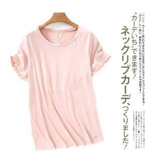 M) adrienne vittadini 粉色運動上衣 sport top