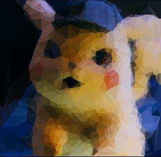 Poly art style digital portrait