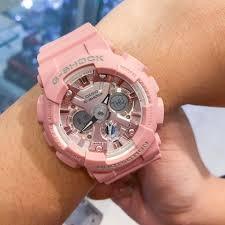 (2 YEARS WARRANTY) Casio GMA-S120DP-4A Unisex G-Shock Analog Digital Sporty Design Pink Resin Band Original Watch (GMA-S120DP)