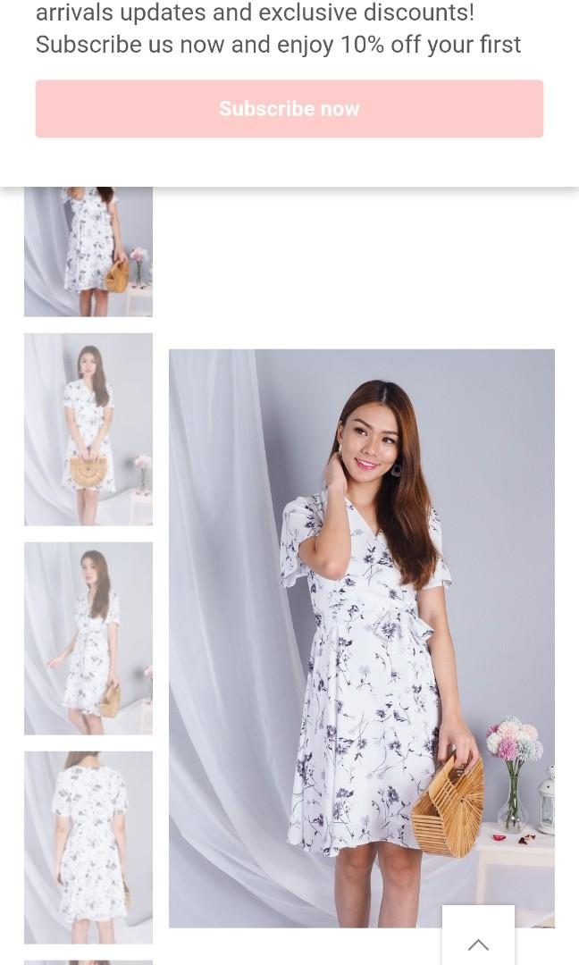 3inute Rowena Midi Dress in White