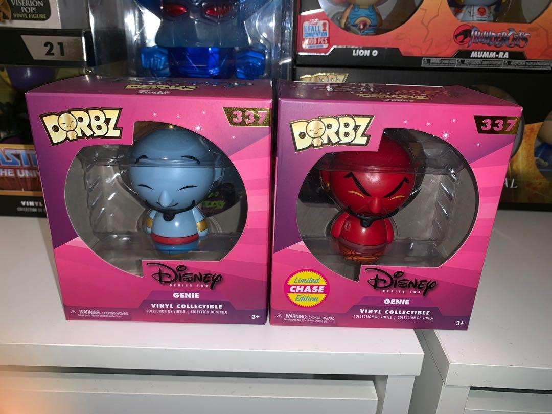 Aladdin Genie and Genie Chase Dorbz Figures Bundle