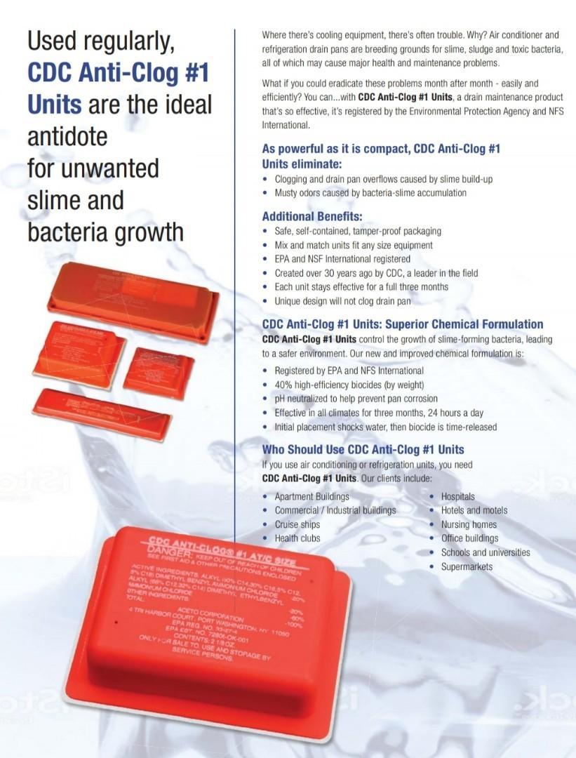 Anti Clog Strip (Prevent Water Leakage)