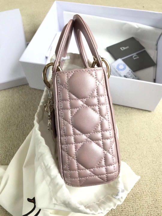 Dior - Mini Lady Dior Lambskin Bag (powder pink)
