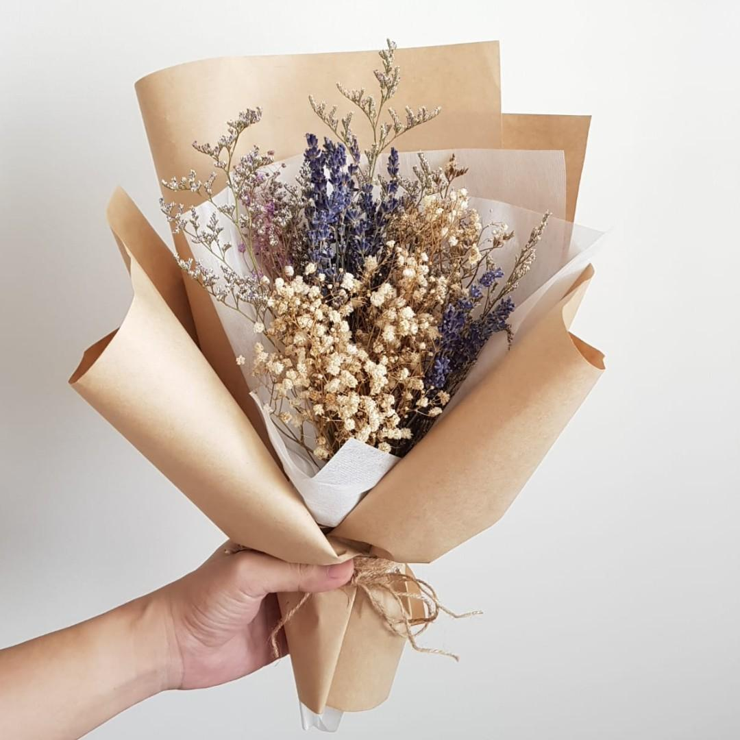 Gorgeous Af Dried Lavender With Baby S Breath Bouquet Gardening Flowers Bouquets On Carousell
