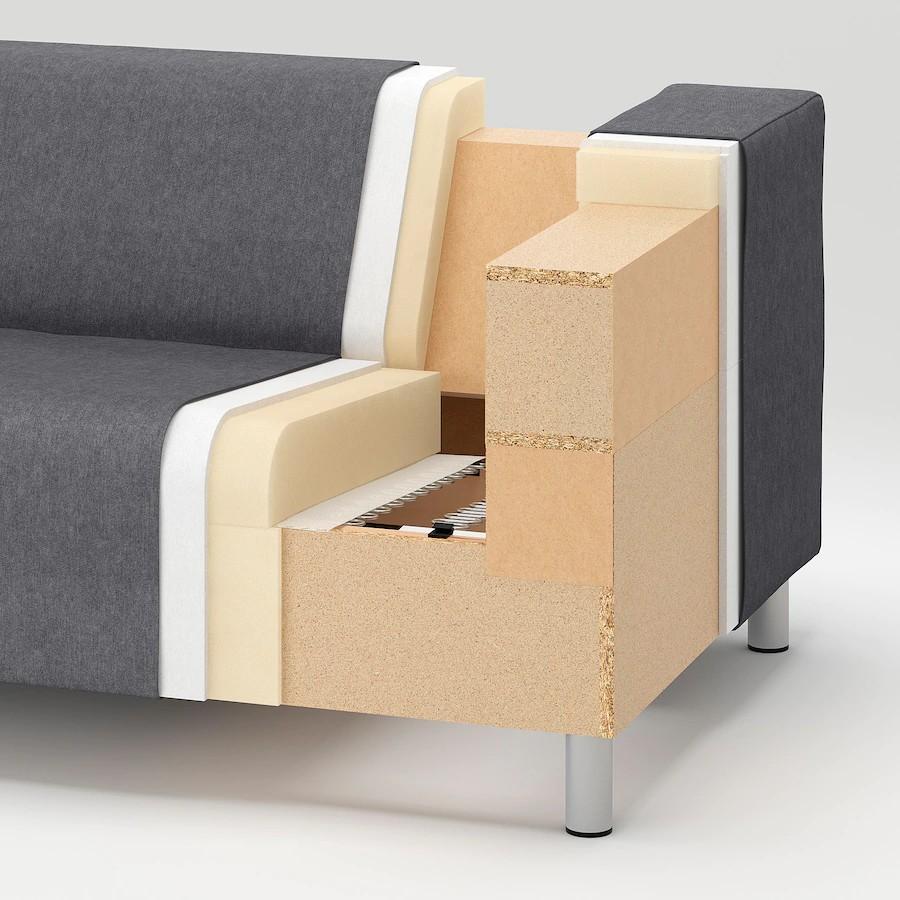 Ikea Klippan Sofa Grey Side Chair White Cover On Carousell