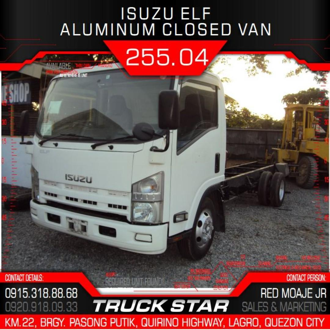 Isuzu Elf Aluminum Closed Van 4JJ1 Engine 19Footer Truck For Sale on