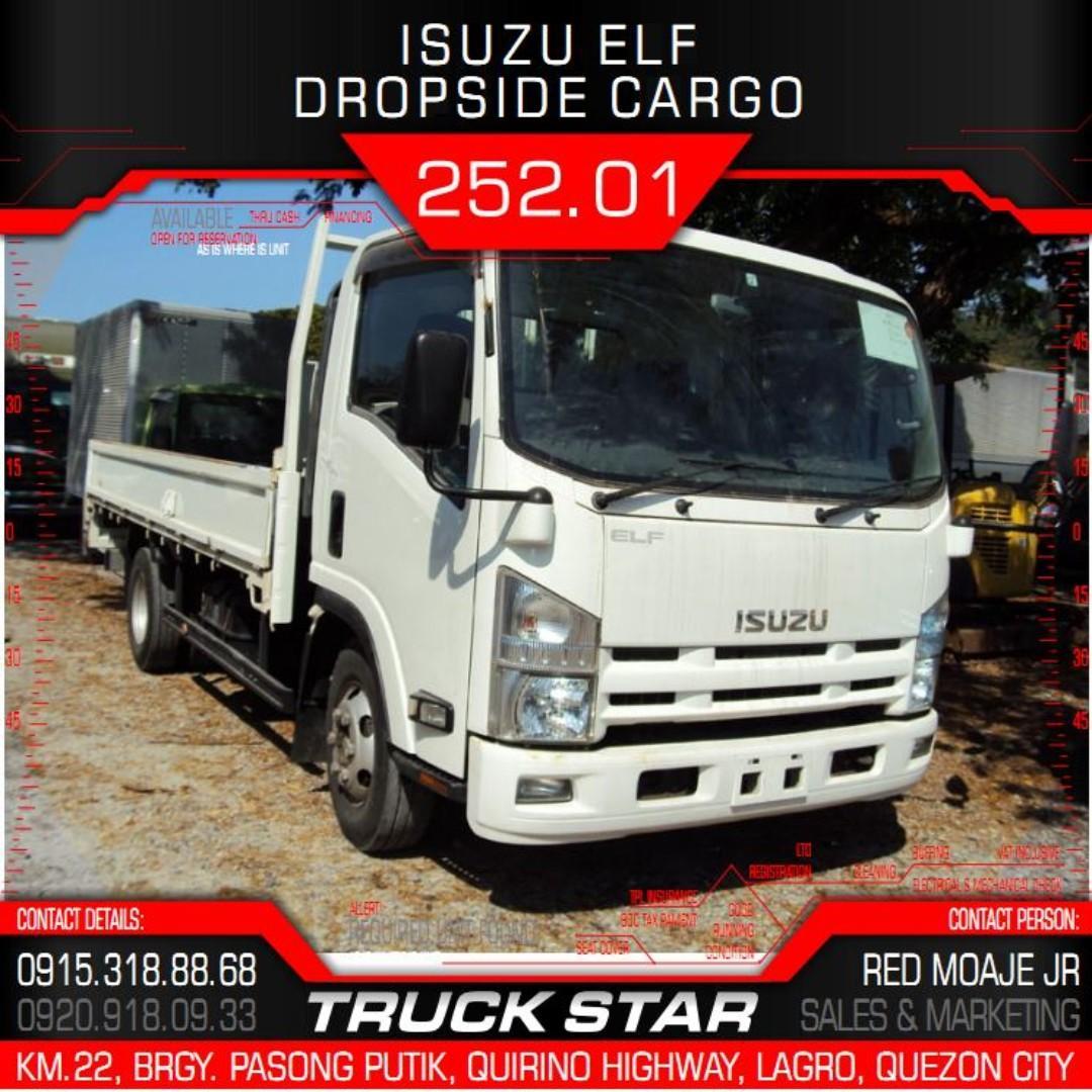 Isuzu Elf Dropside Cargo 4JJ1 Engine 14Footer Truck For Sale on
