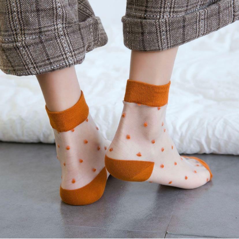 Japanese Clear Polka Dots Socks