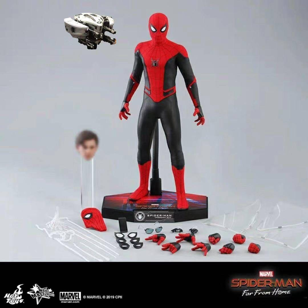 Hot Toys Mms542 Spider Man Far From Home Spiderman Upgraded Suit Toys Games Bricks Figurines On Carousell