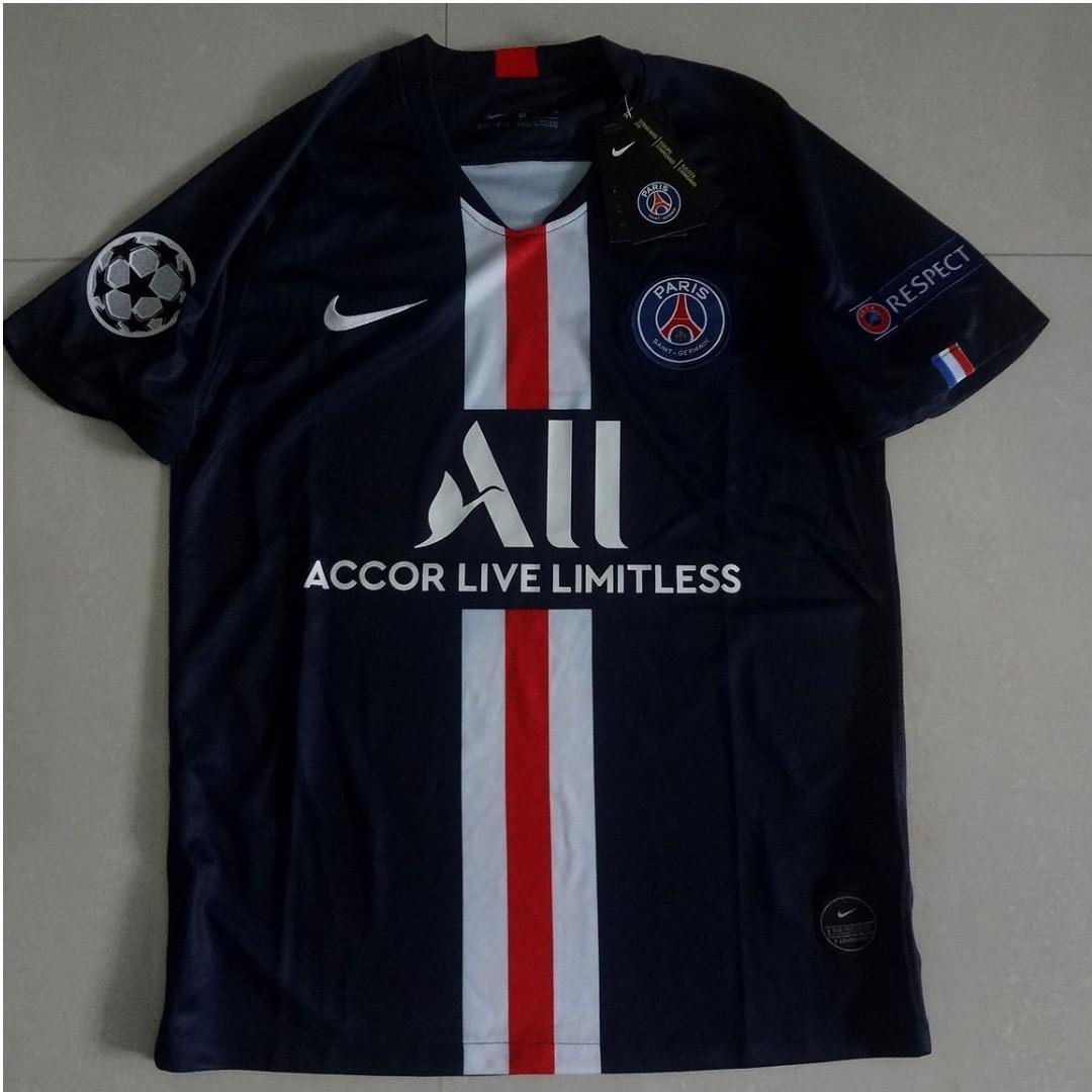 check out 4e162 baccb PSG Paris Saint Germain Home 19/20 Soccer Jersey Champions ...
