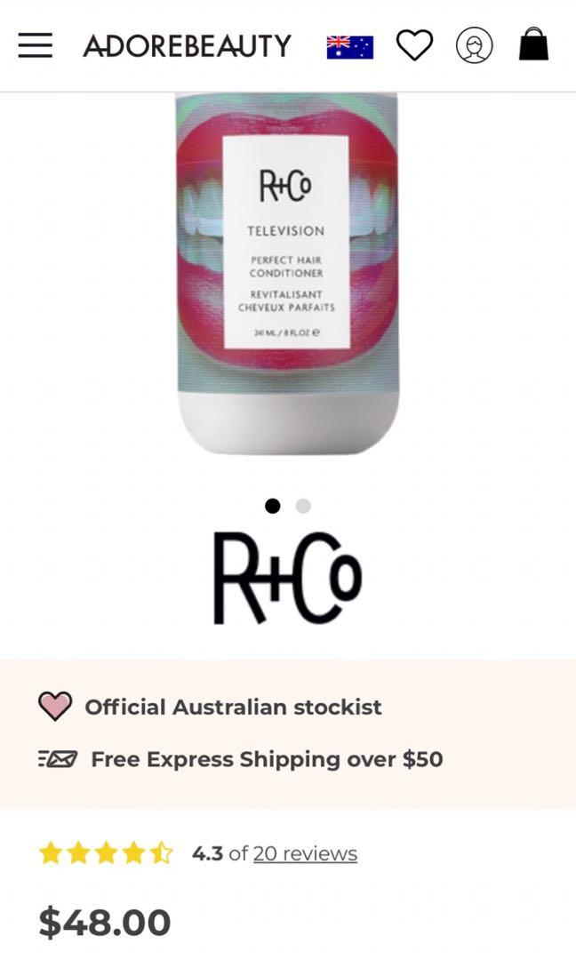 4 x R+Co hair products. Shampoo conditioner, treatment and dry shampoo