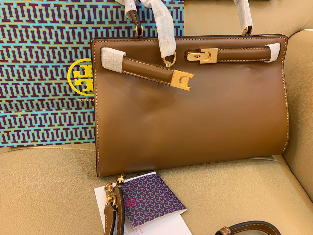 Ready Stock Authentic Tory Burch Lee Radziwill medium in bronze with strap
