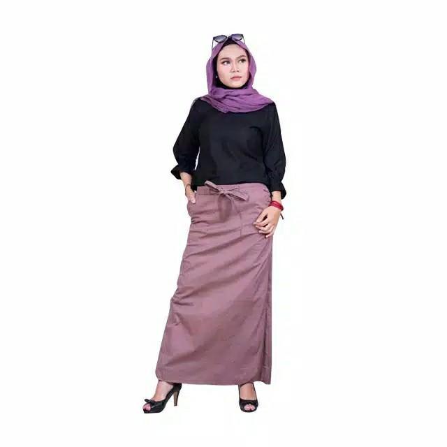 Rok Celana Abu-abu & Coklat