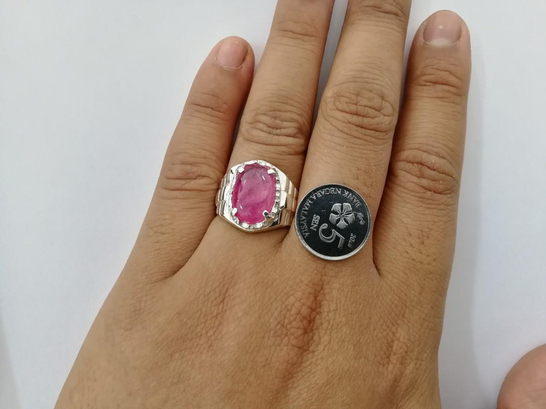 Silver Ring Natural Ruby
