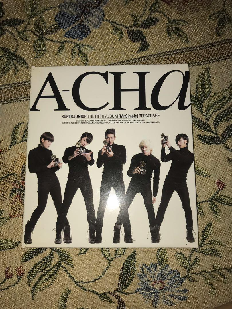 Super Junior A-CHA The Fifth Album [Mr.Simple] Repackaged