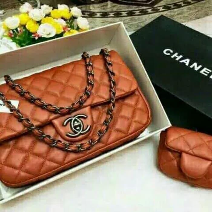 Tas Wanita Chanel Mom & Kid Set Dompet-Tas Kualitas Import-Tas Branded