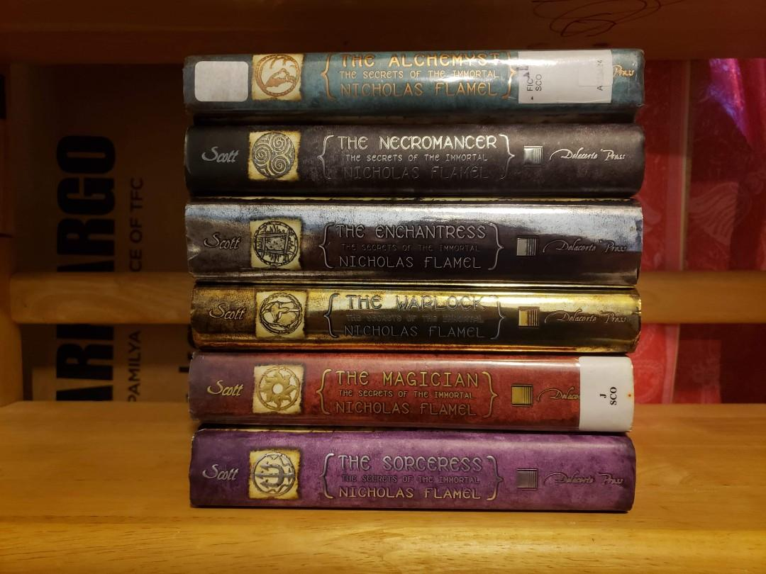 The Secrets of the Immortal Nicholas Flamel by Michael Scott hardbound/hardcover set