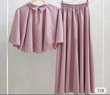 Dress gamis pink