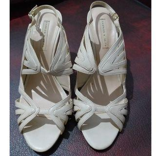 Charles & Keith cream shoes
