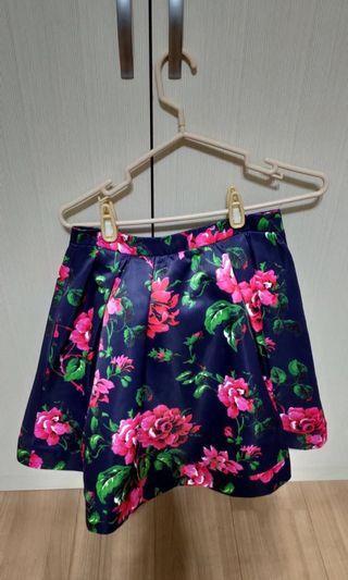 MOMA花朵🌺緞面短裙