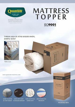 BRAND NEW Quantim Mattress Topper 150x200cm queen Size Bed