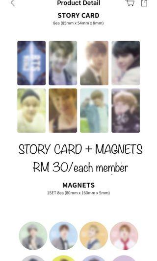 BTS WORLD ( story card + magnet )