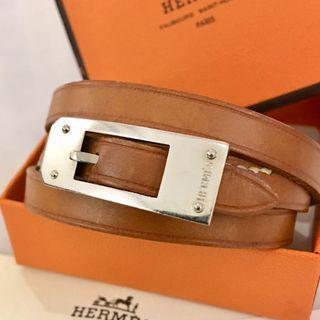 Authentic HERMES leather bracelet