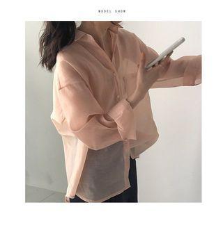 韓妞都有的蜜桃色襯衫🍑