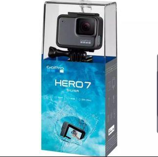 Go Pro Hero 7 Silver (BNIB Sealed w/ receipt & one year warranty)
