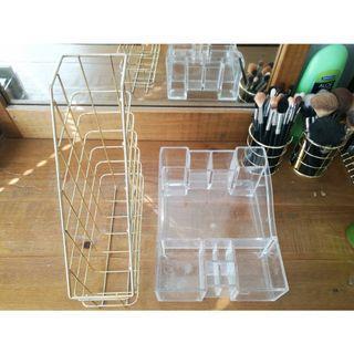 Cosmetic organizer & Gold Wire Magazine File