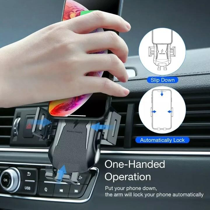 10W Fast Charge Fully Automatic Wireless Car Charger