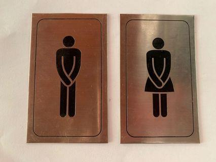 Toilet Signs Man and Woman.