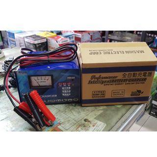 (全新品)麻新充電器 12V6A 汽機車 電瓶充電器 電池充電器 微電腦自動充電機 充飽自動斷電 台灣製造