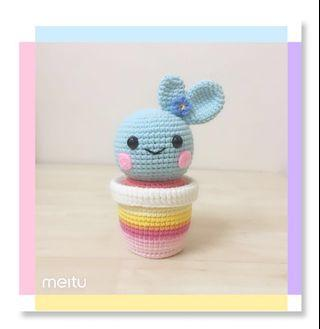 🌵Sweet Cactus Friend ( Baby Blue )