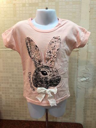 🍭可愛🐰🐰女童粉色短袖上衣🍭