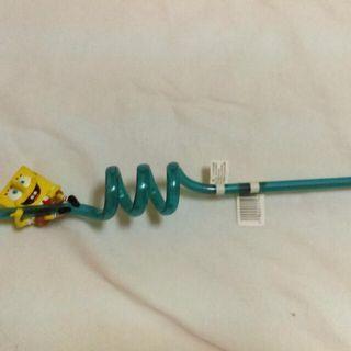海綿寶寶造型吸管