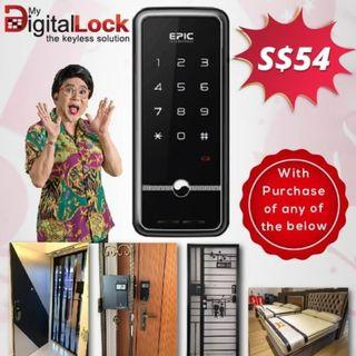 (National Day Promotion) Digital Lock @ only $54 with any purchase 88164080