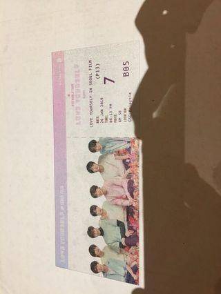 BTS LYS SEOUL FILM TRANSPARENT CARD