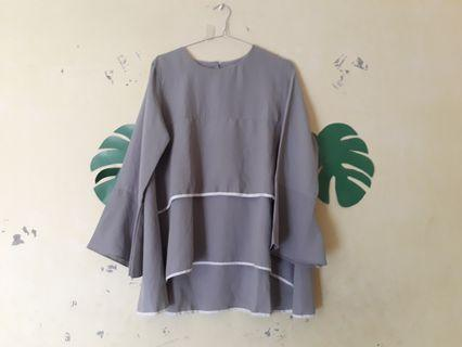 Grey Blouse murah