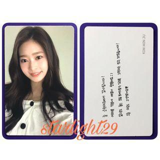 IZ*ONE - COLOR*IZ Kim Minju Photocard