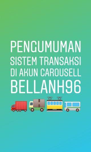 Pengumuman Singkat akun Carousell @bellanh96