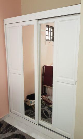 Clothes Wardrobe (White) Good Condition 3 Yr $120 Can Nego