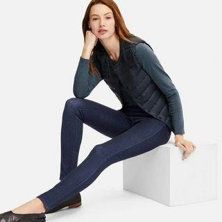 Uniqlo dark denim blue jeggings legging jeans