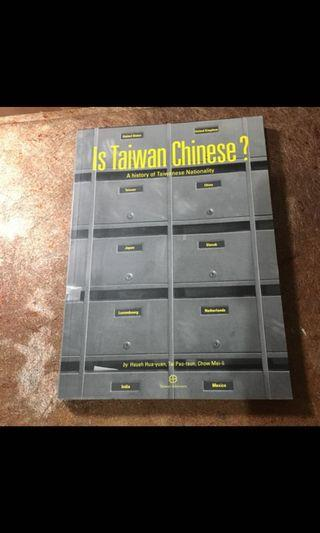 is taiwanese chinese? 英文原文書籍