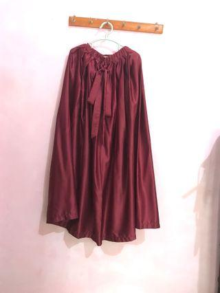 Rok Maroon satin princess