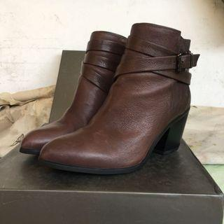 STACCATO Wine Brown Ankle Boots