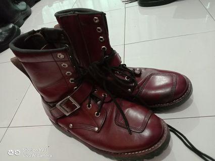 AVIREX U.S.A (red-throated loon Rex) YAMATO AV2100 riders boots side zip boots Avi Rex Yamato