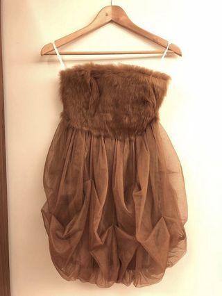 🛍限時特價🛍性感平口紗裙迷你洋裝 台灣品牌